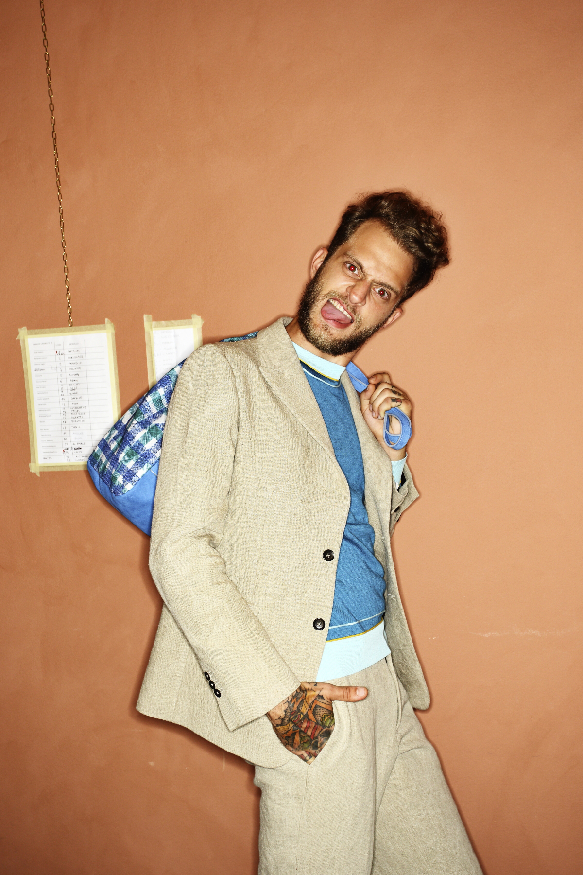 Andrea Incontri SS15 Men Fashion Show Milan Backstage