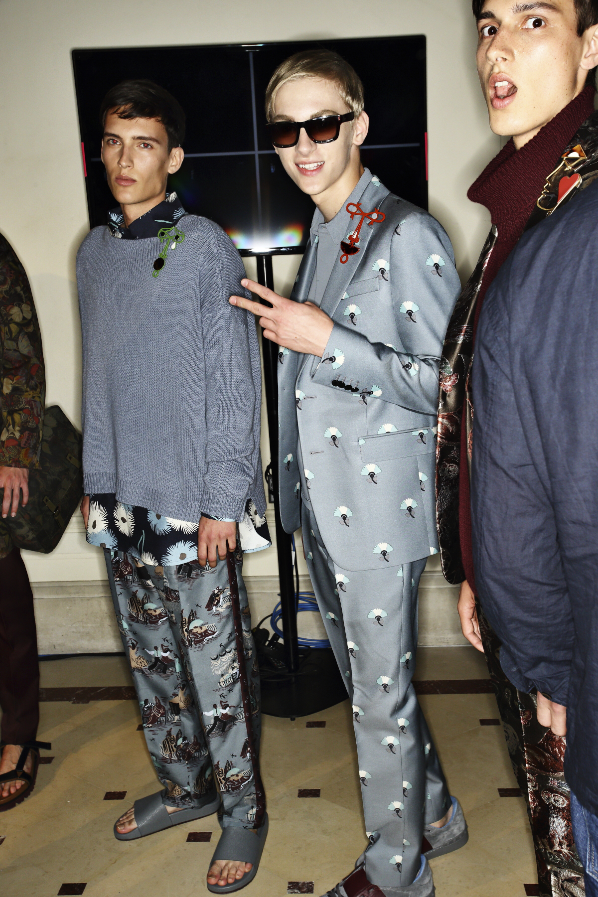 Valentino SS15 Men Fashion Show Paris Backstage