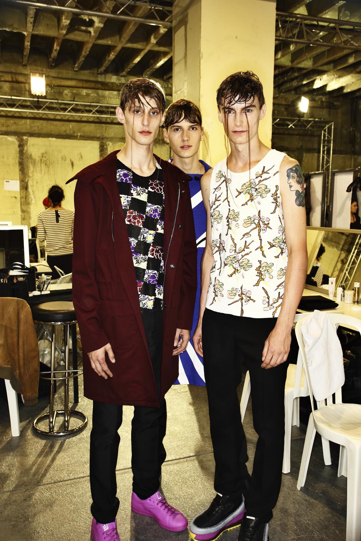 Raf Simons SS15 Men Fashion Show Paris Backstage