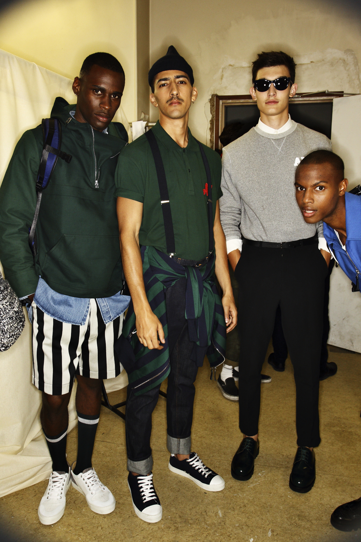 Ami Alexandre Mattiussi SS15 MEn Fashion Show Paris Backstage