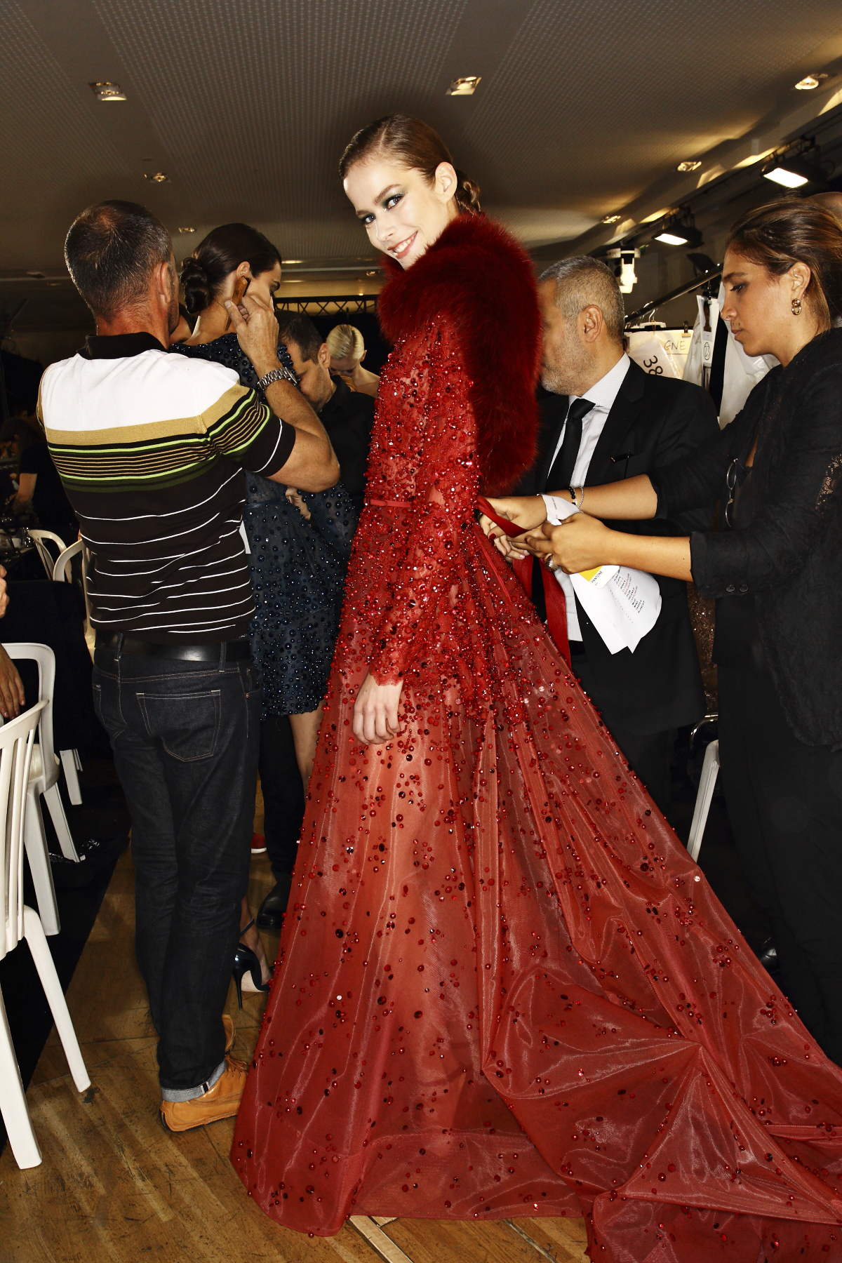 Elie Saab AW14-15 Haute Couture Show Paris Backstage