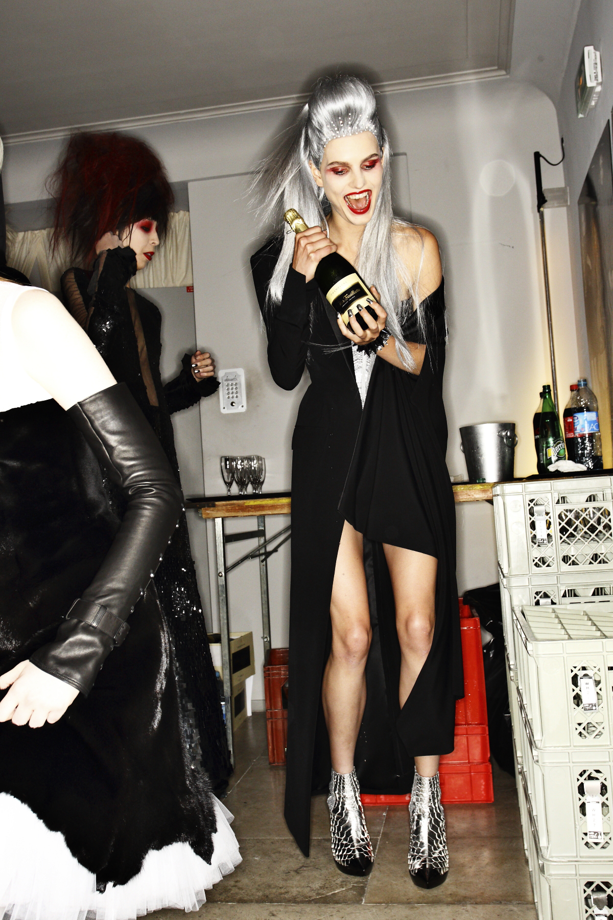 Jean Paul Gaultier AW14-15 Haute Couture Show Paris Backstage - Special Guest, Conchita