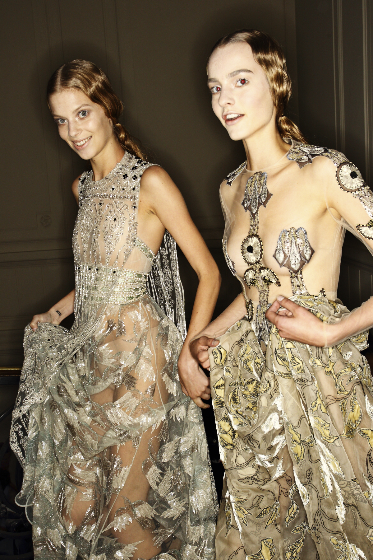 Valentino AW14-15 Haute Couture Show Paris Backstage