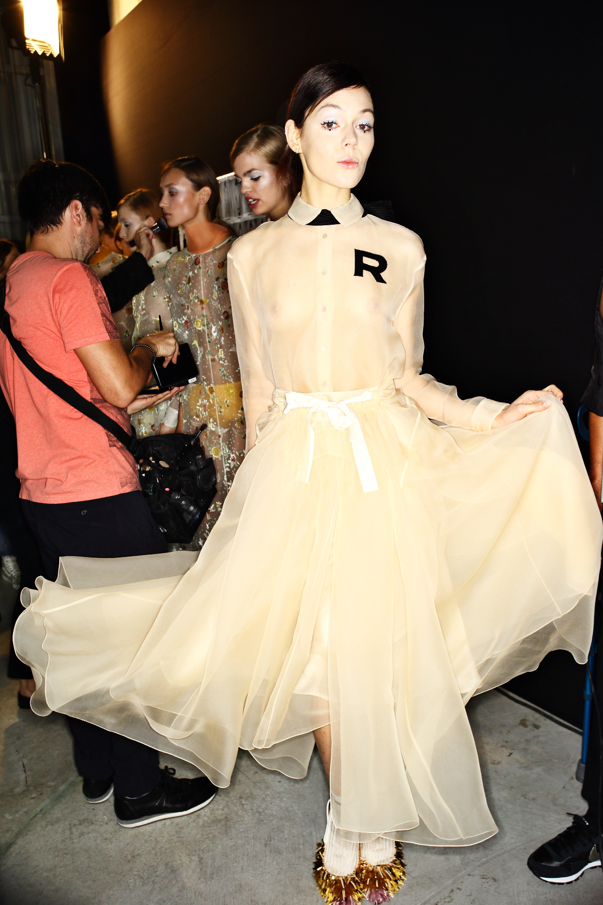 Rochas SS15 Fashion Show Paris Backstage