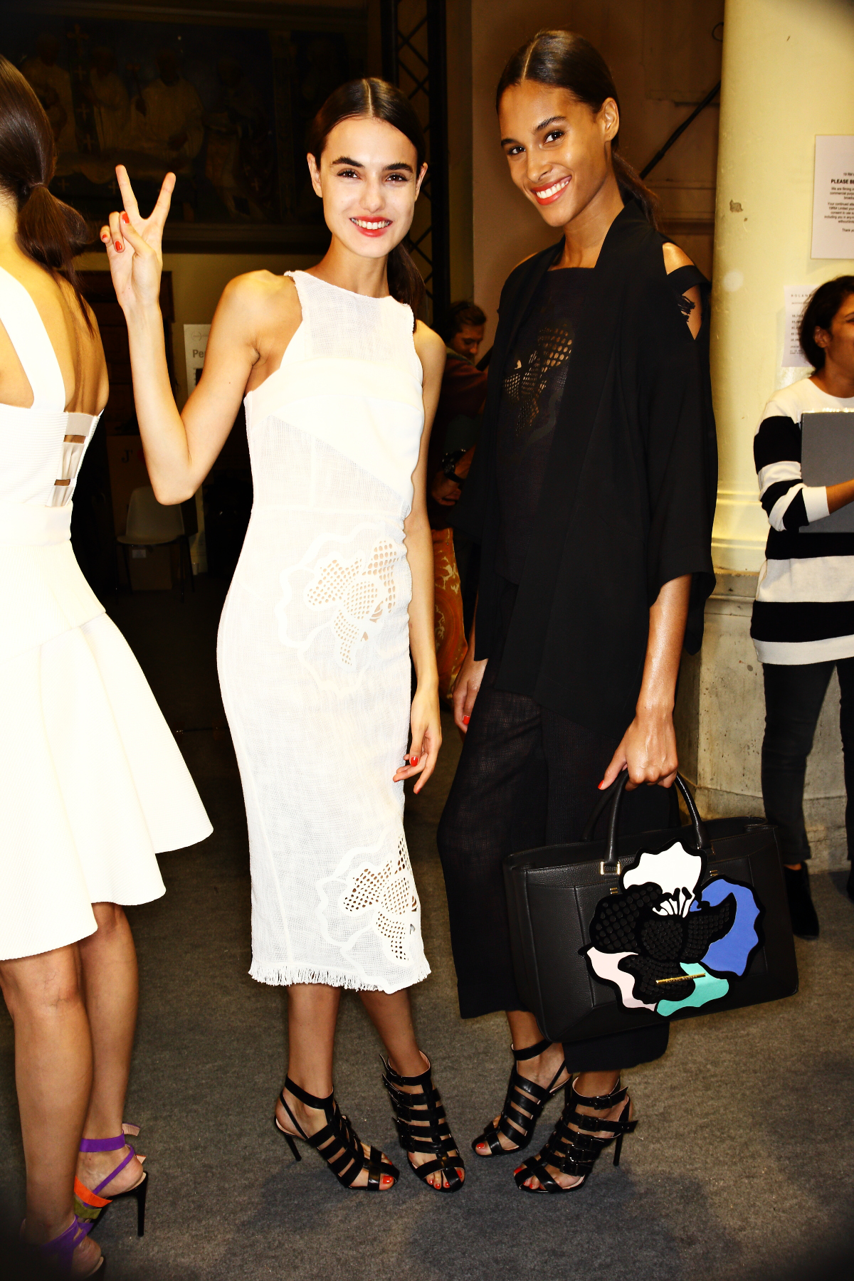 Roland Mouret SS15 Fashion Show Paris Backstage