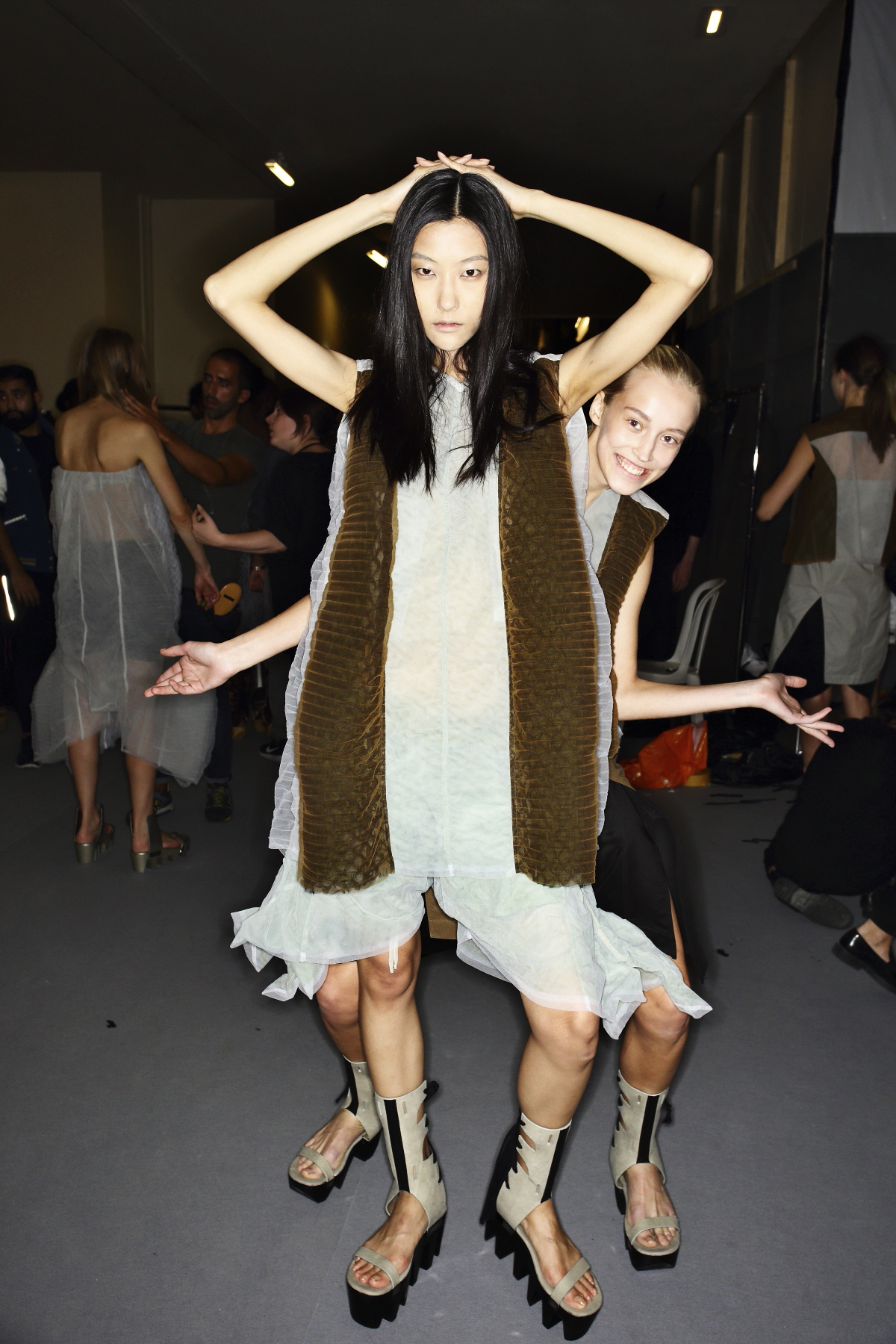 Rick Owens SS15 Fashion Show Paris Backstage