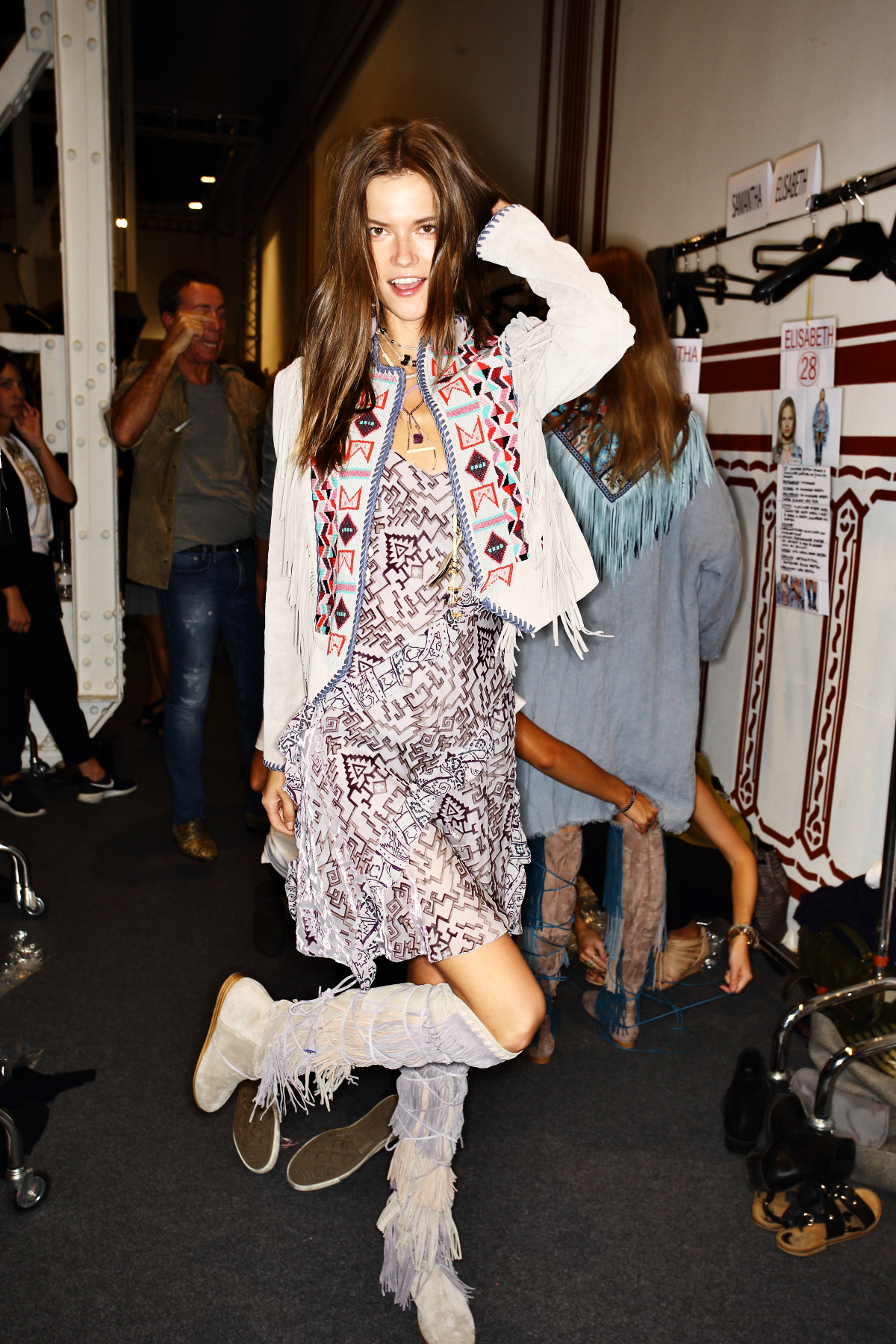Etro SS15 Fashion Show Milan Backstage