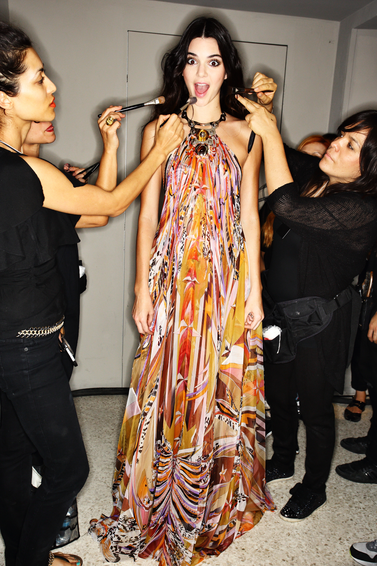 Emilio Pucci SS15 Fashion Show Milan Backstage