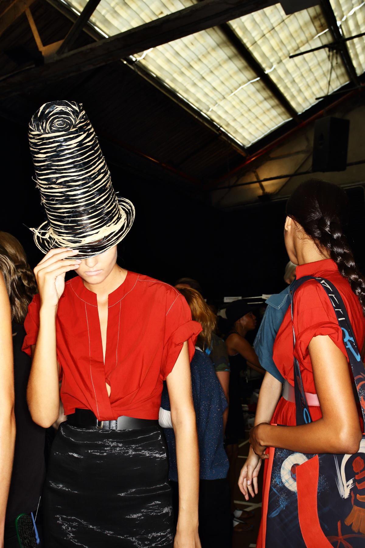 Donna Karan SS15 Fashion Show New York Backstage
