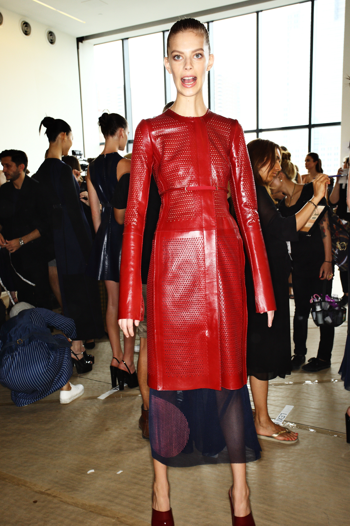 Calvin Klein SS15 Fashion Show New York Backstage