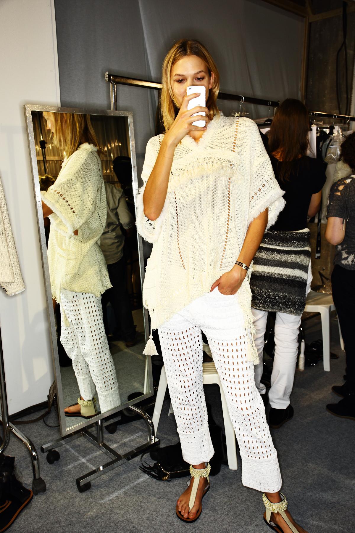 Isabel Marant SS15 Fashion Show Paris Backstage