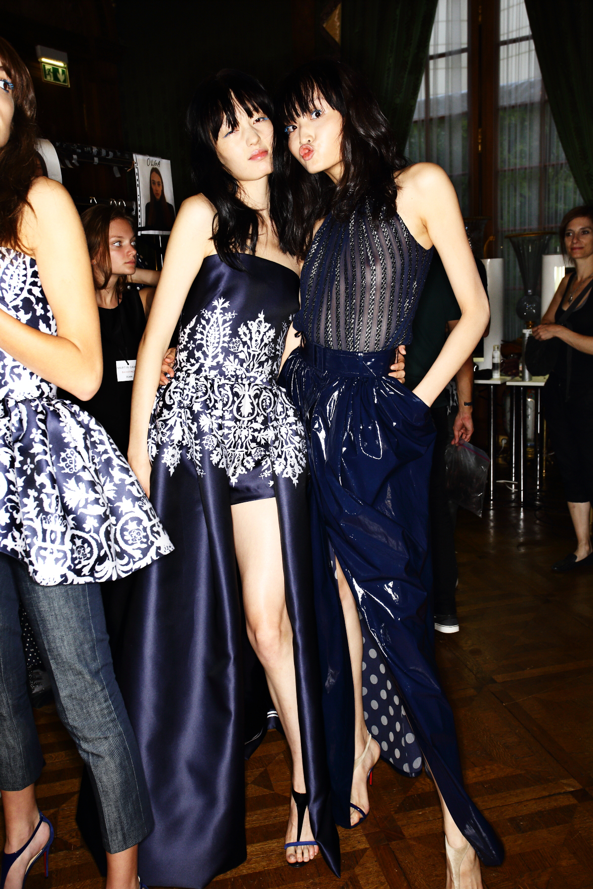 Martin Grant SS15 Fashion Show Paris Backstage