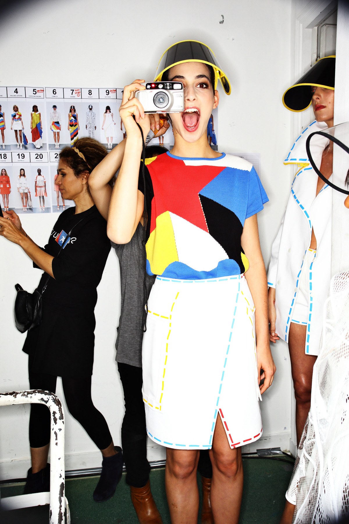 Jean-Charles De Castelbajac SS15 Fashion Show Paris backstage