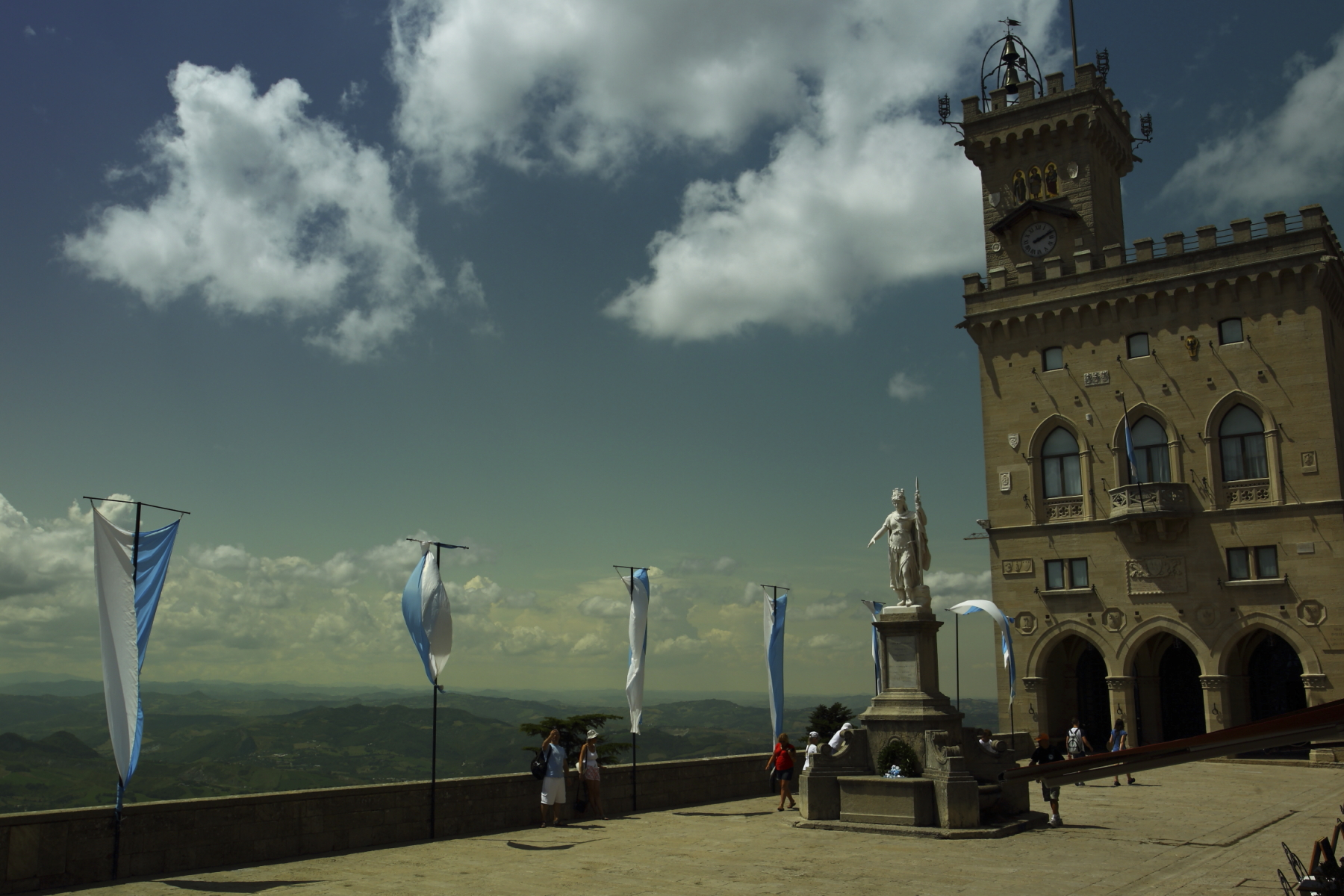 San Marino, Republic of. In the middle of Italy