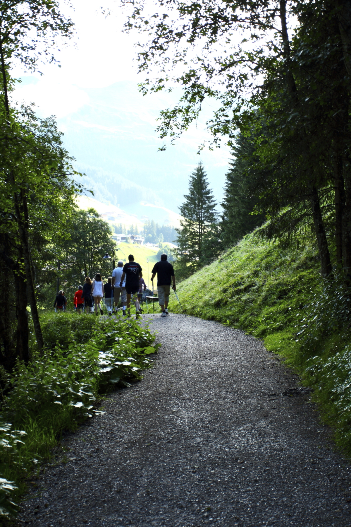 Morning walk along the Lanersbach, Hintertux, Austria