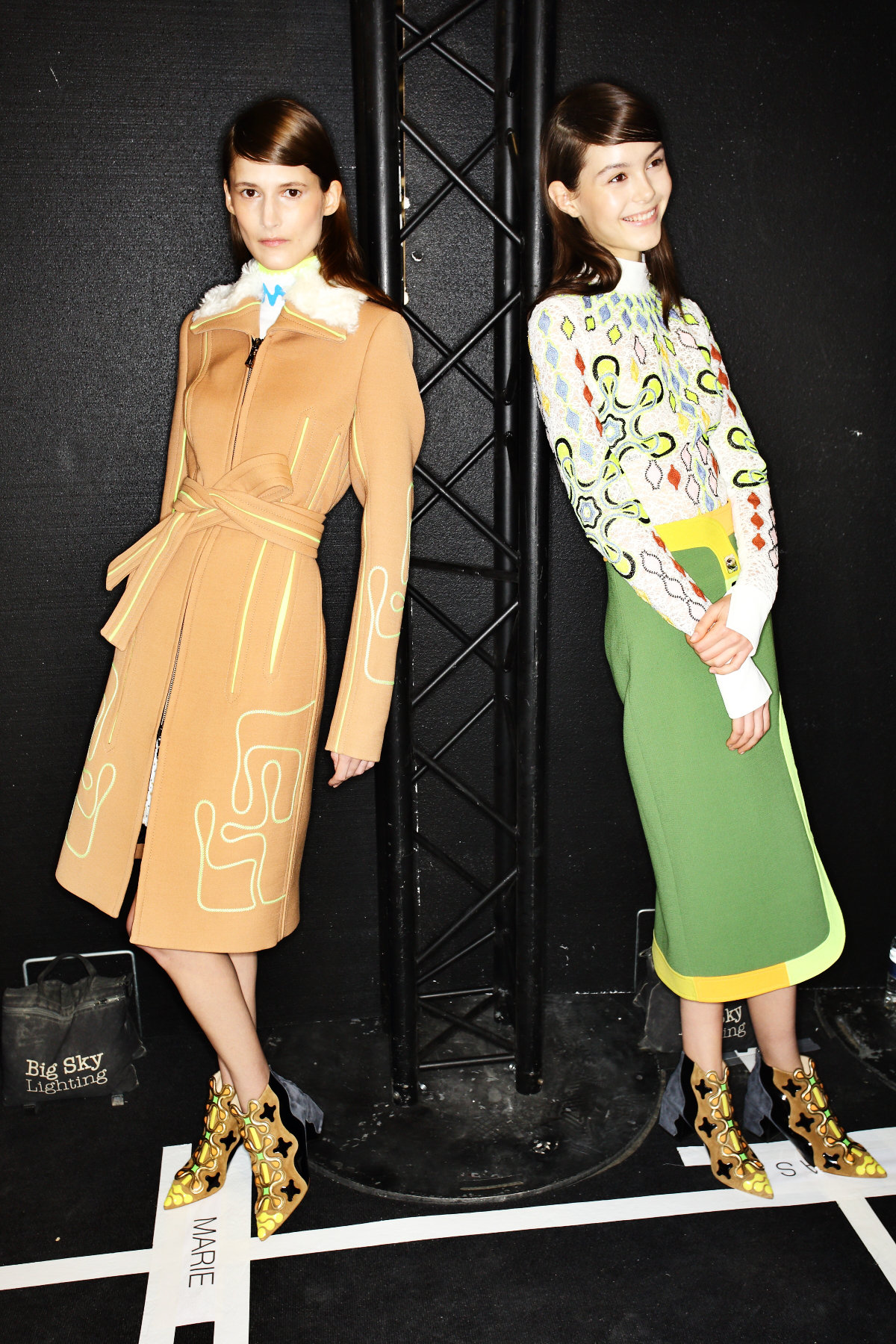 Peter Pilotto AW1516 Fashion Show London Backstage