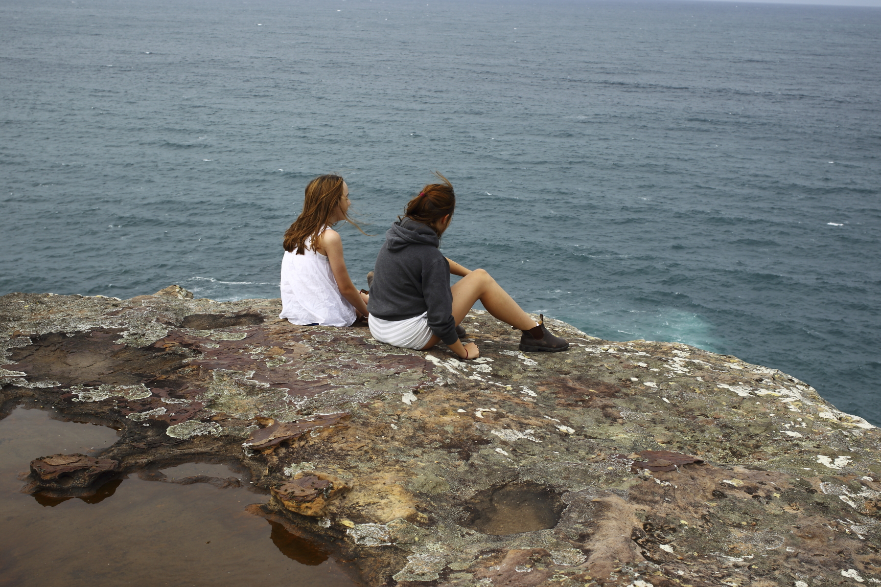 Barrenjoey Walk with the girls, the northen tip