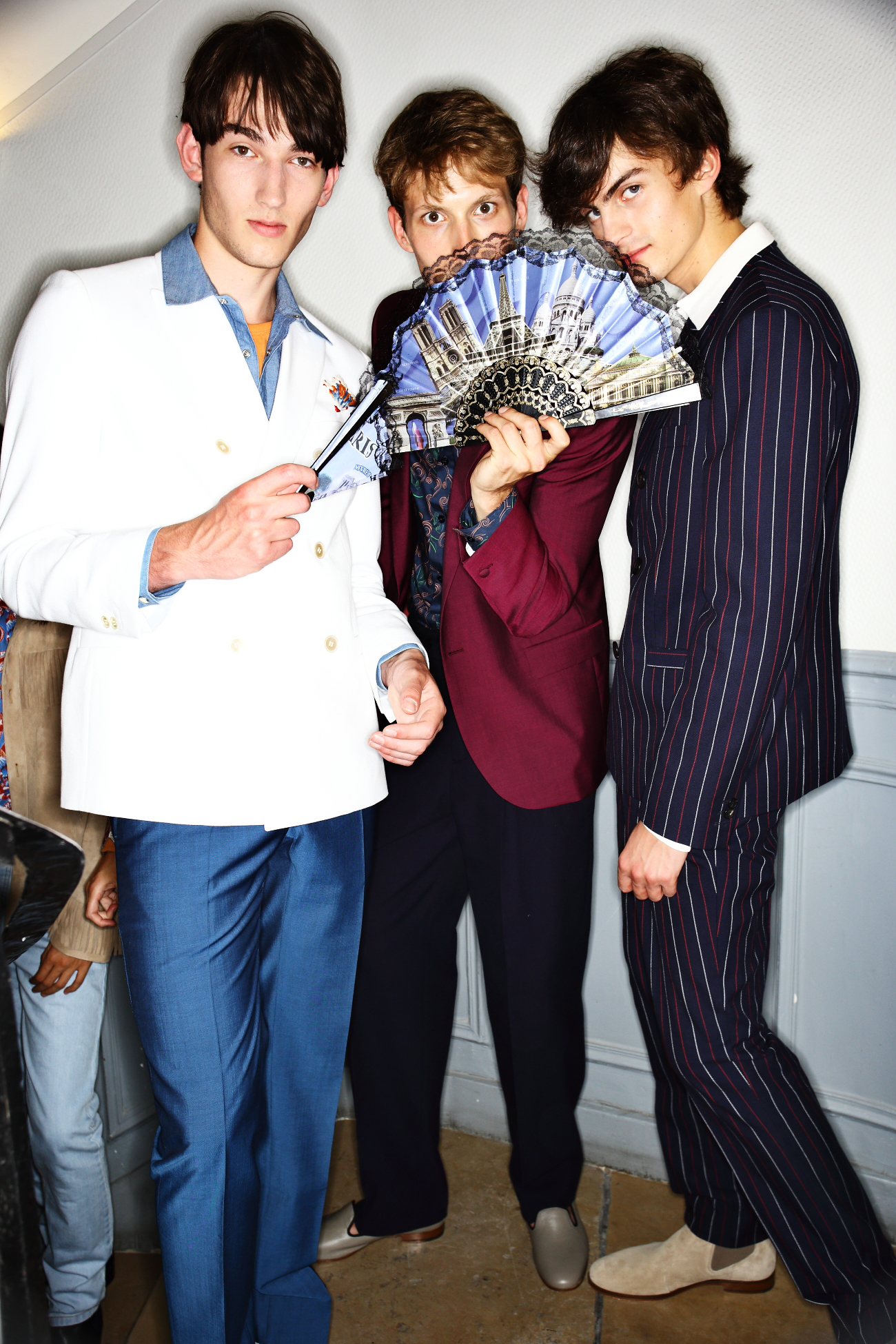 Melinda Gloss SS16 Men Fashion Show Paris Backstage