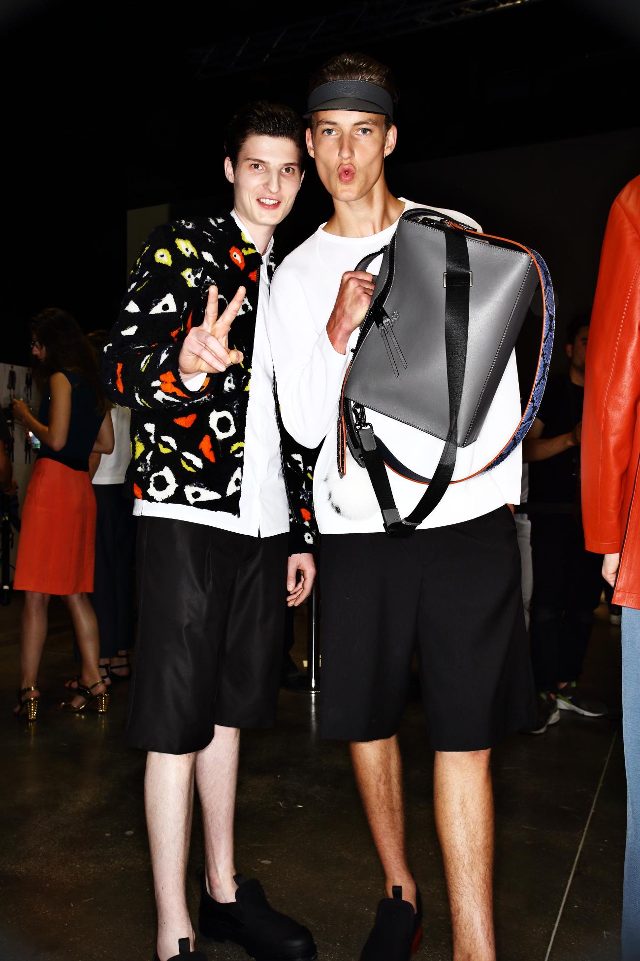 Fendi SS16 Men Fashion Show Milan Backstage