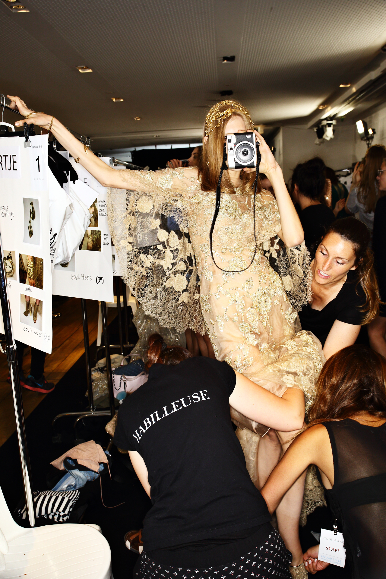 Elie Saab Fall 15 Haute Couture Fashion Show Paris Backstage