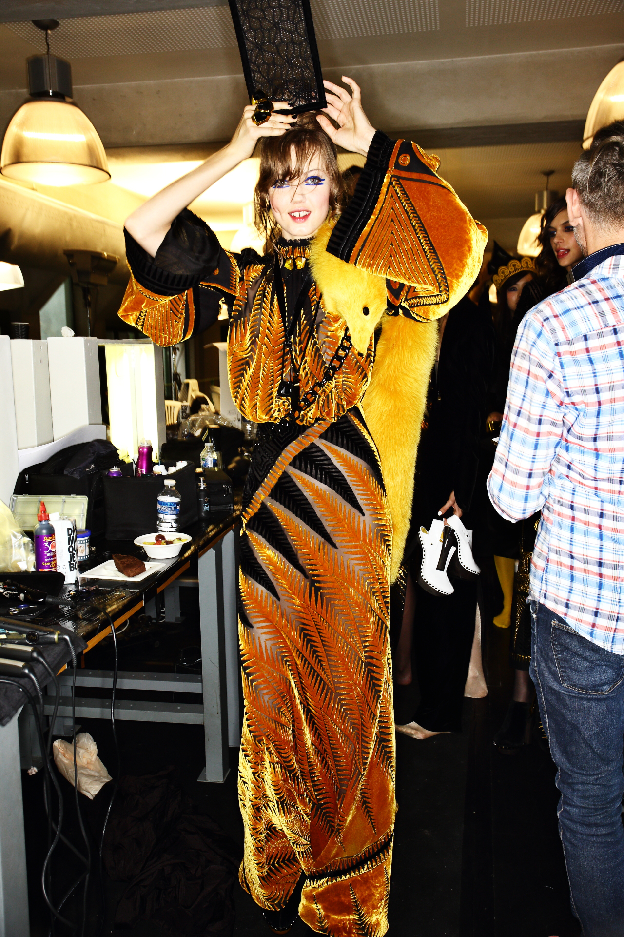 Jean Paul Gaultier Fall 15 Haute Couture Fashion Show Paris Backstage