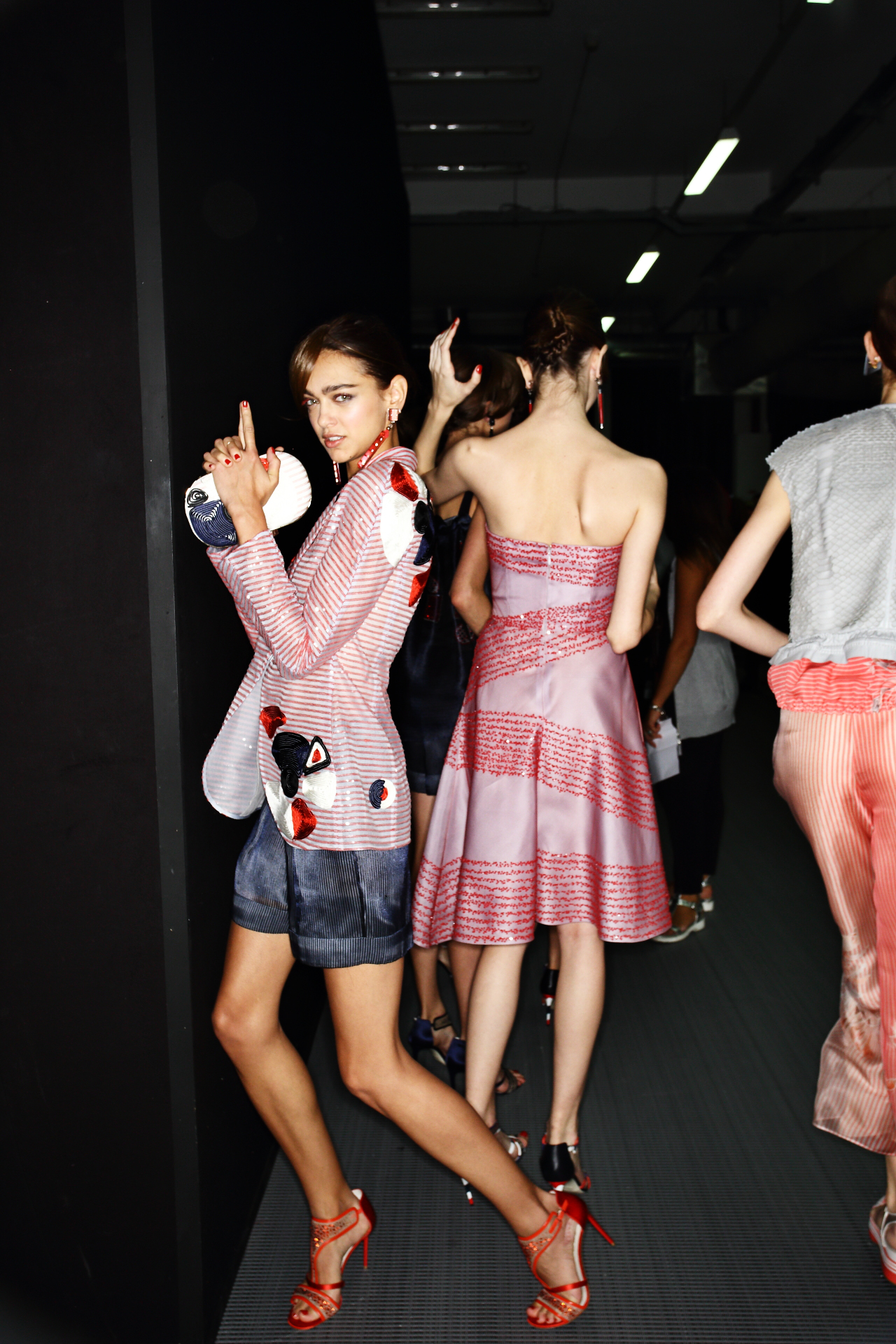 Giorgio Armani SS16 Fashion Show Milan Backstage