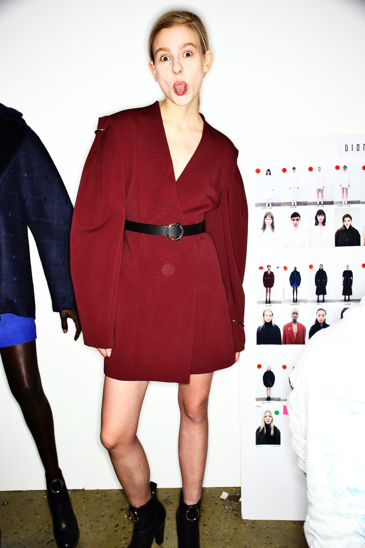 Dion Lee AW1617 Fashion Show New York Backstage