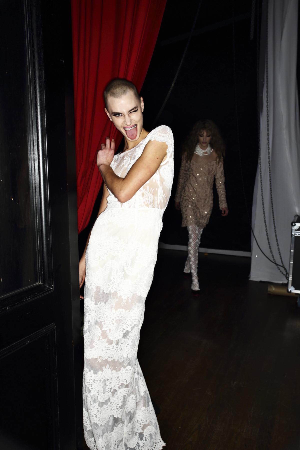 Ida Sjostedt AW1617 Fashion Show Backstage at Berns Stockholm