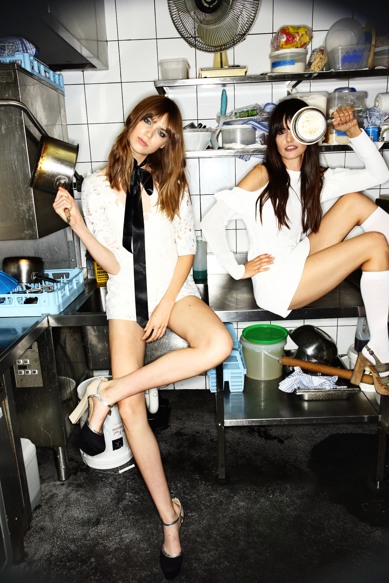 Alice McCall SS1617 Fashion Show Sydney Backstage ( in the kitchen- love it )
