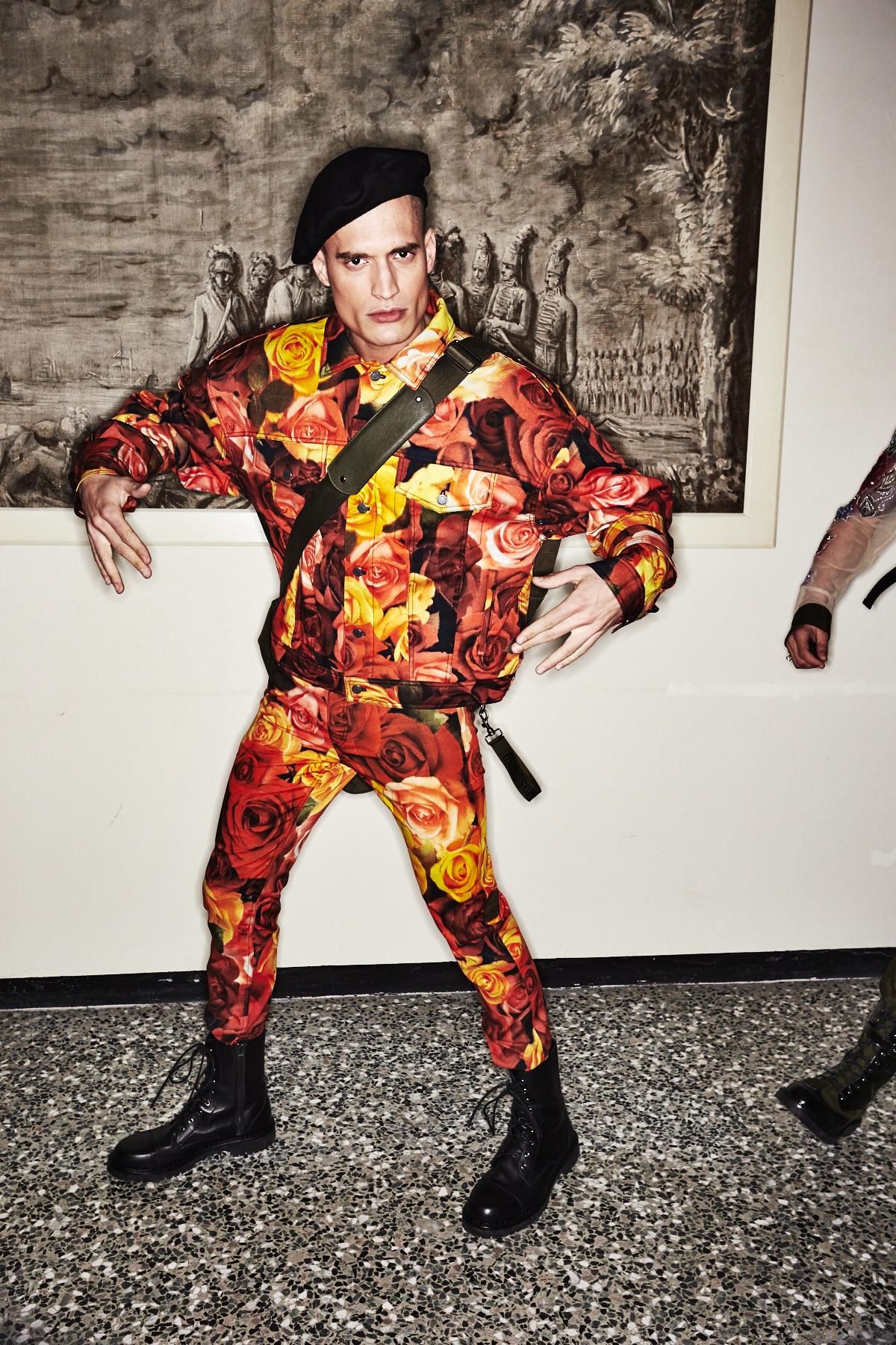 Moschino Fall 17 Men Fashion Show Milan Backstage