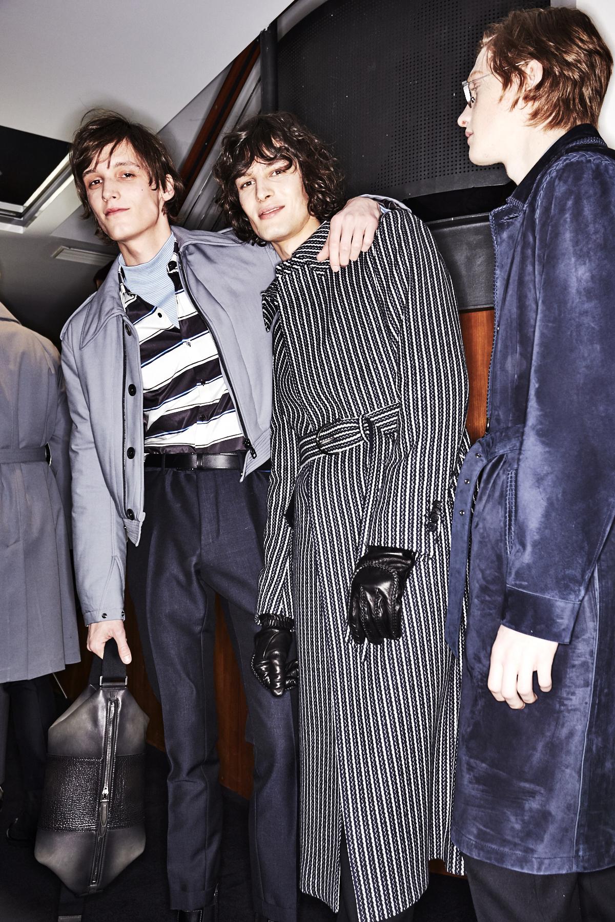 Salvatore Ferragamo Fall 17 Men Fashion show Milan Backstage