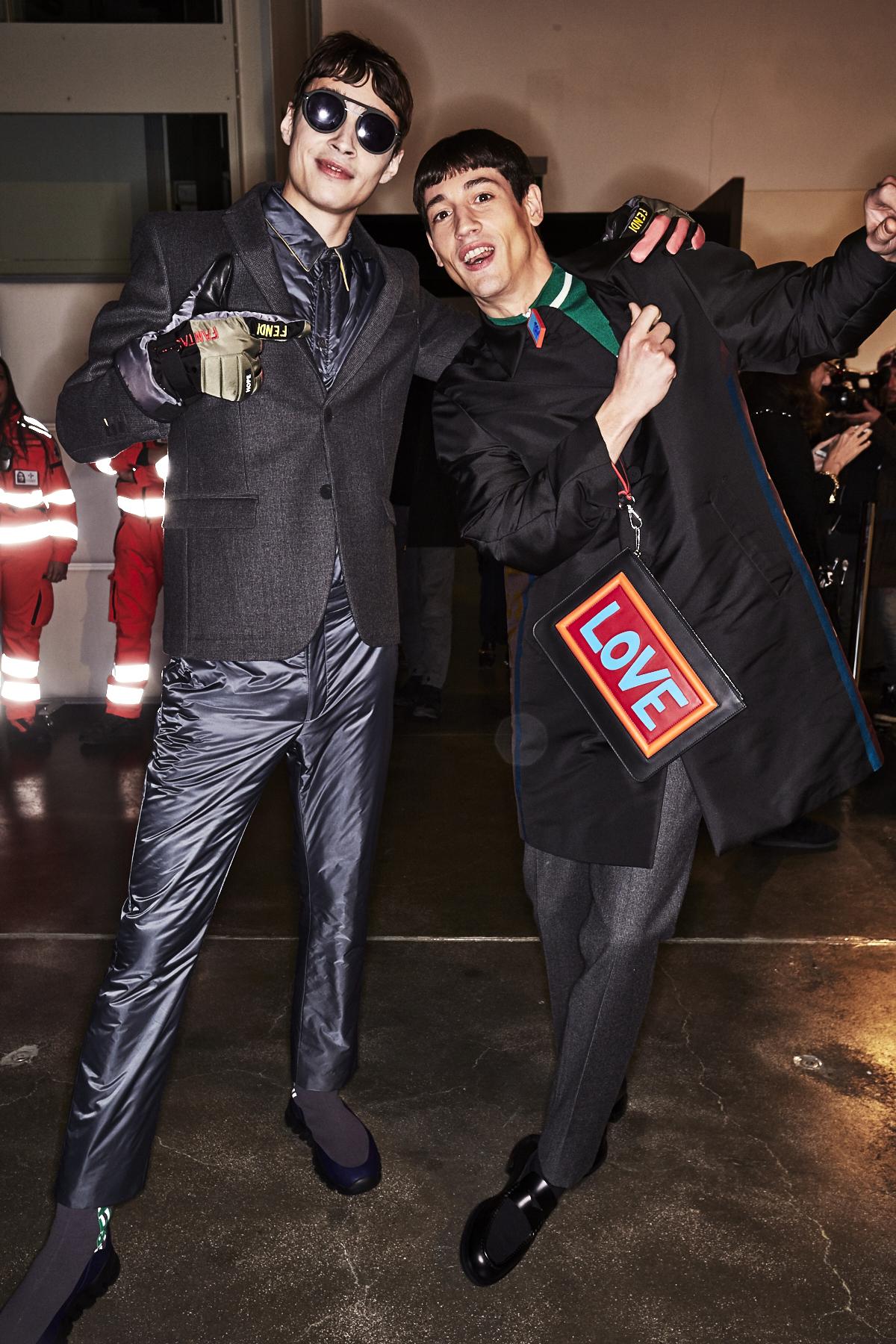 Fendi Fall 17 Men Fashion Show Milan Backstage