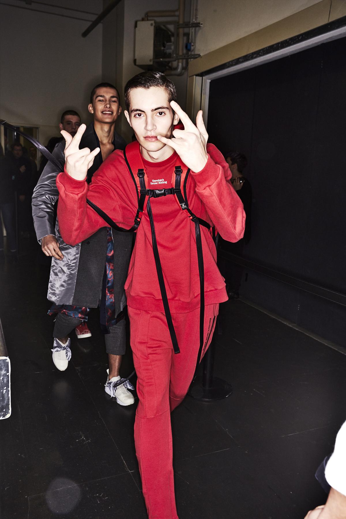 Yoshio Kubo Fall 17 Men Fashion Show Milan Backstage