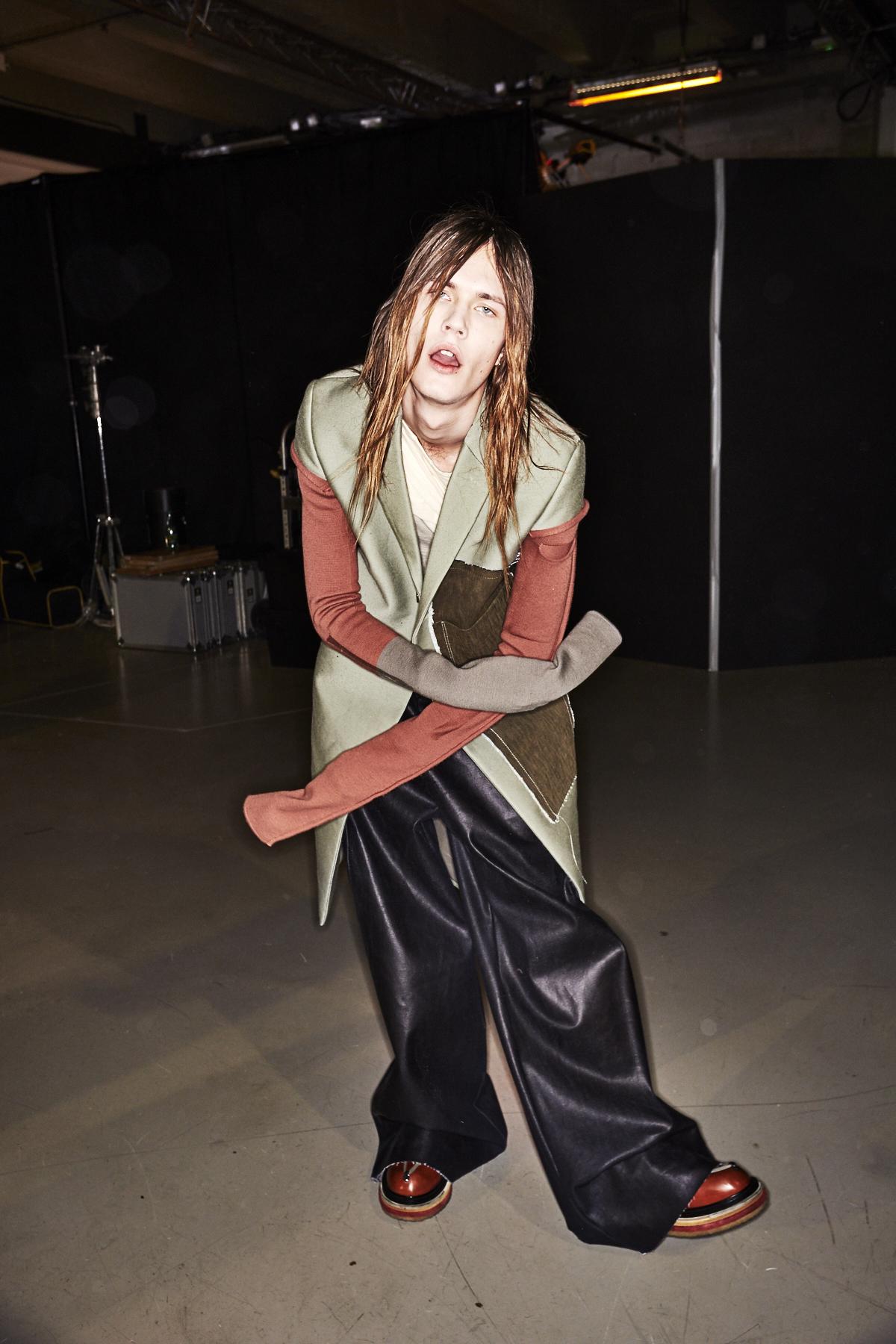 Rick Owens Fall 17 Men Fashion Show Paris Backtage
