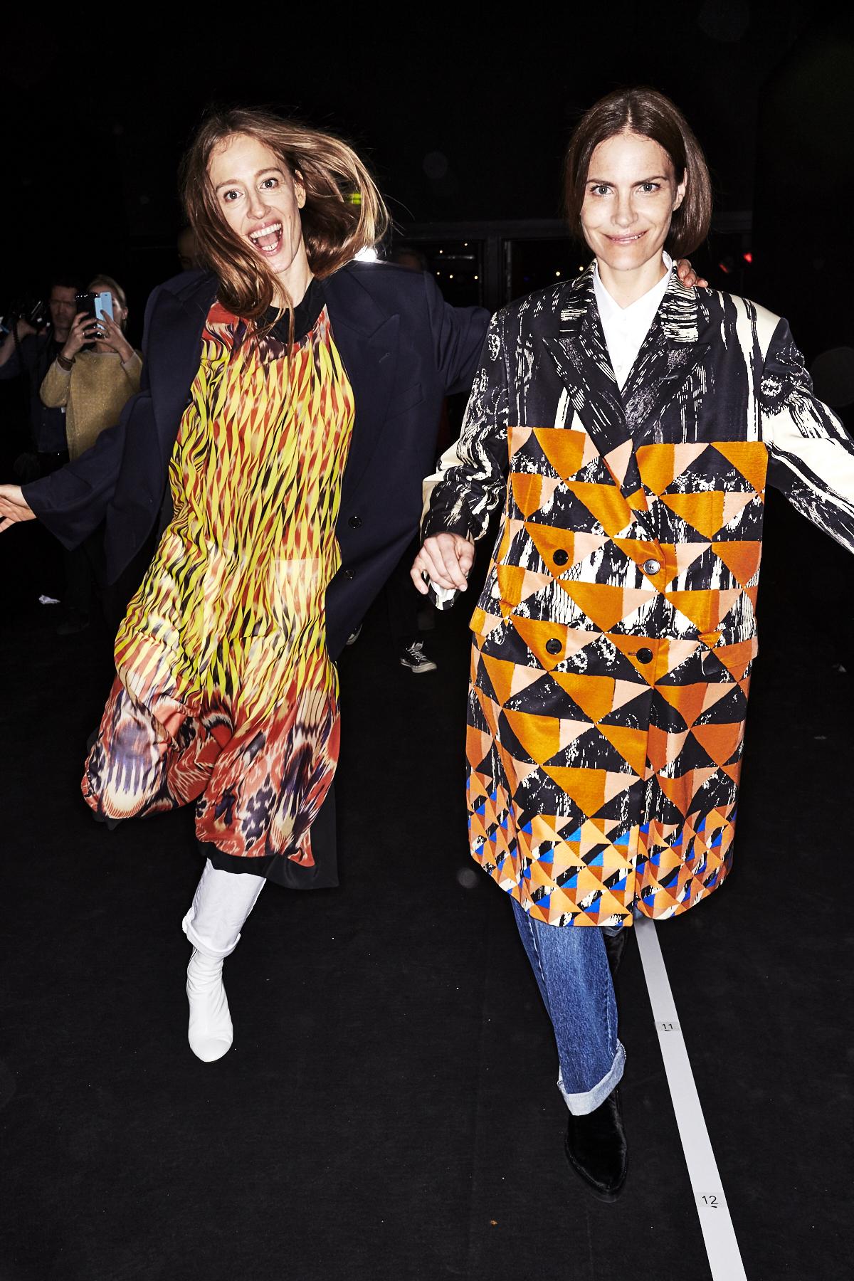 Dries Van Noten AW1718 Fashion show Paris Bacskstage