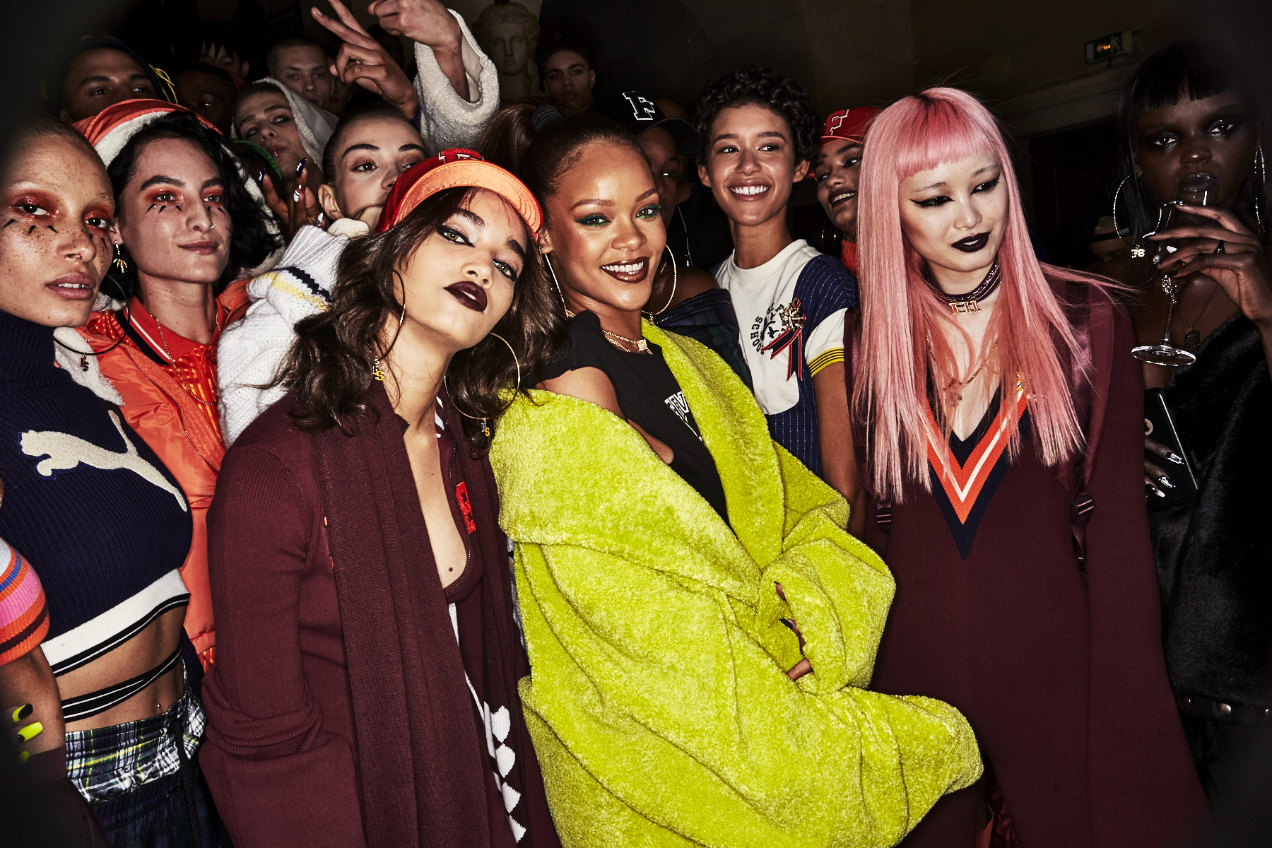 Fenty Rihanna X Puma Aw1718 Fashion Show Paris Backstage