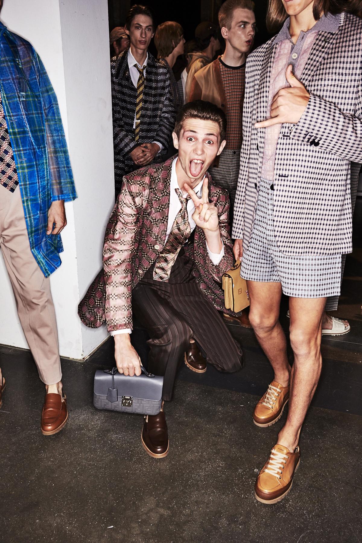 Fendi SS18 Men Fashion Show Milan Backstage