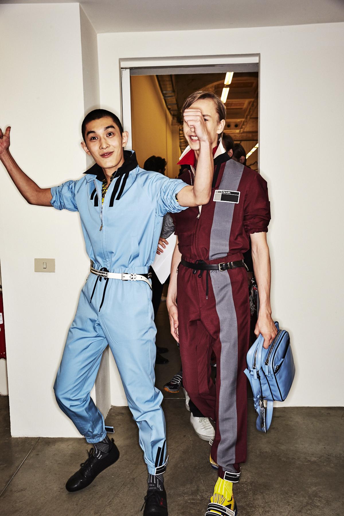 Prada SS18 Men Fashion show Milan Backstage