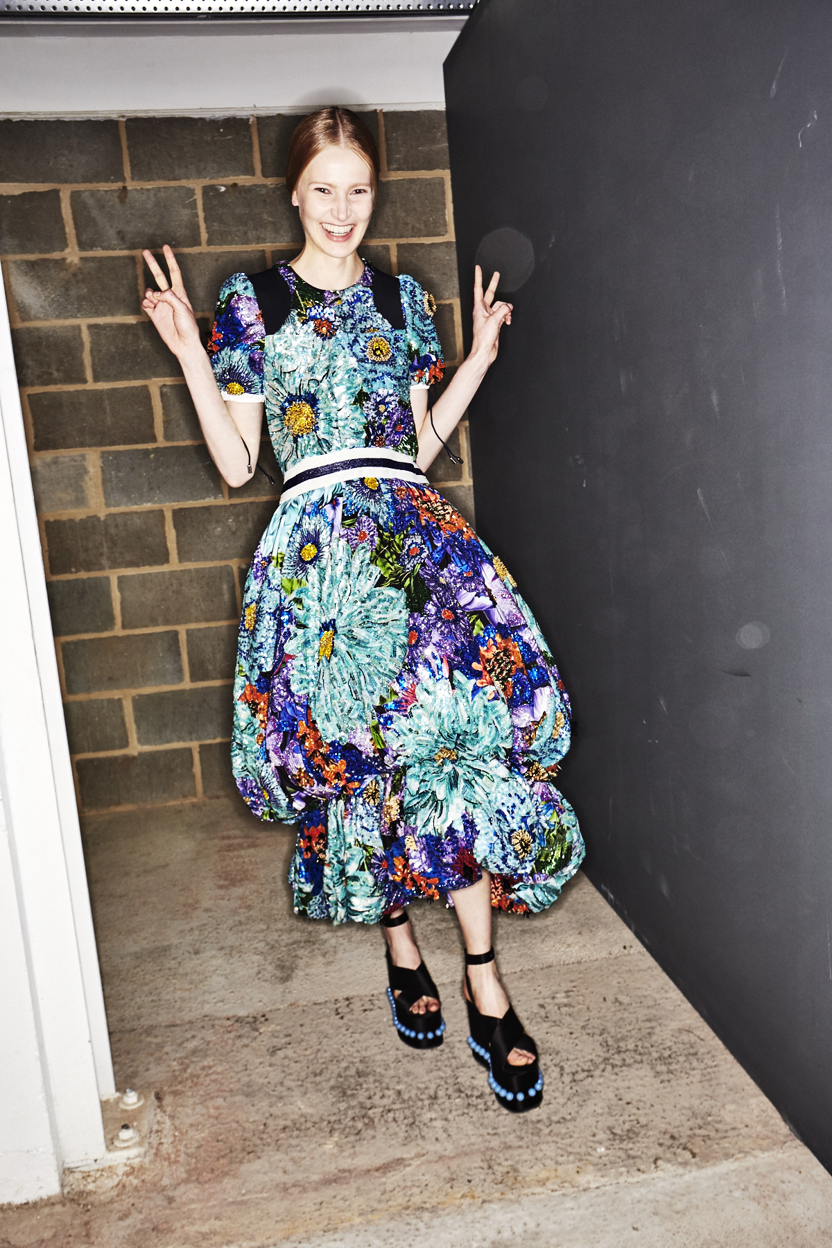 Mary Katrantzou SS18 Fashion Show London Backstage