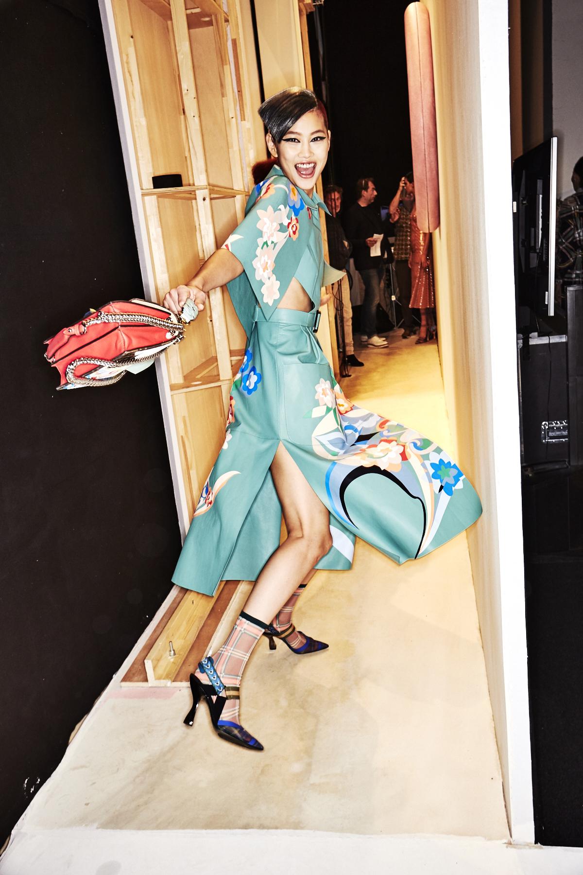 Fendi SS18 Fashion Show Milan Backstage