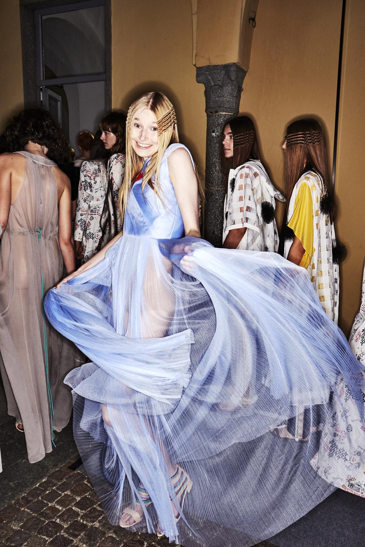 Vionnet SS18 Fashion Show Milan Backstage