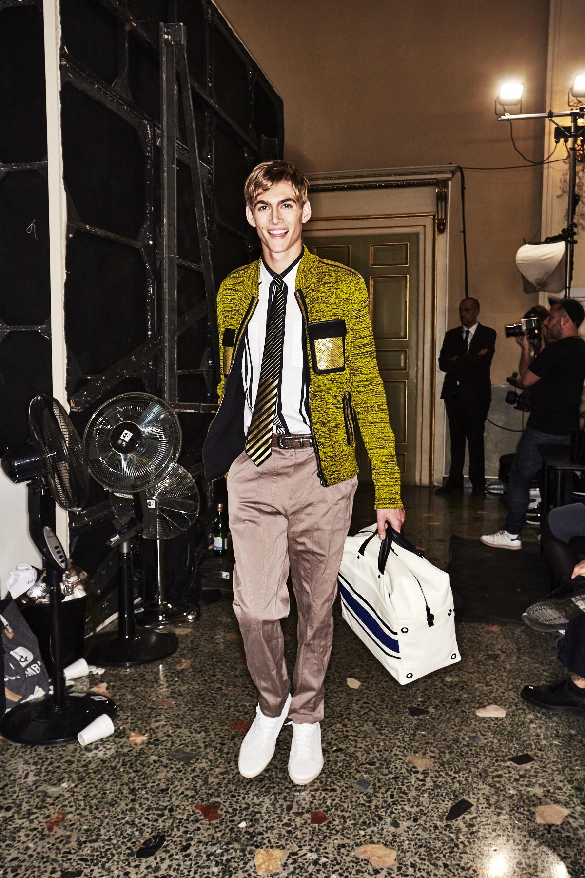 Bottega Veneta SS18 Men Fashion Show Milan Backstage