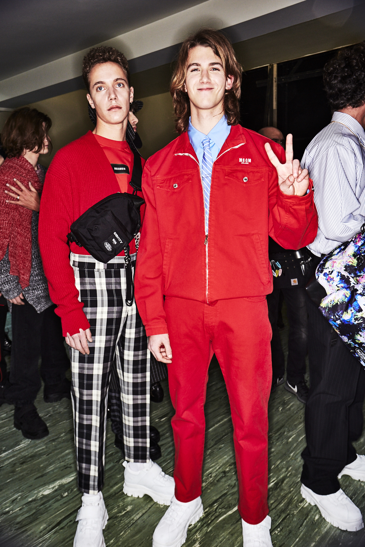 MSGM AW1819 Men Fashion Show Milan Backstage