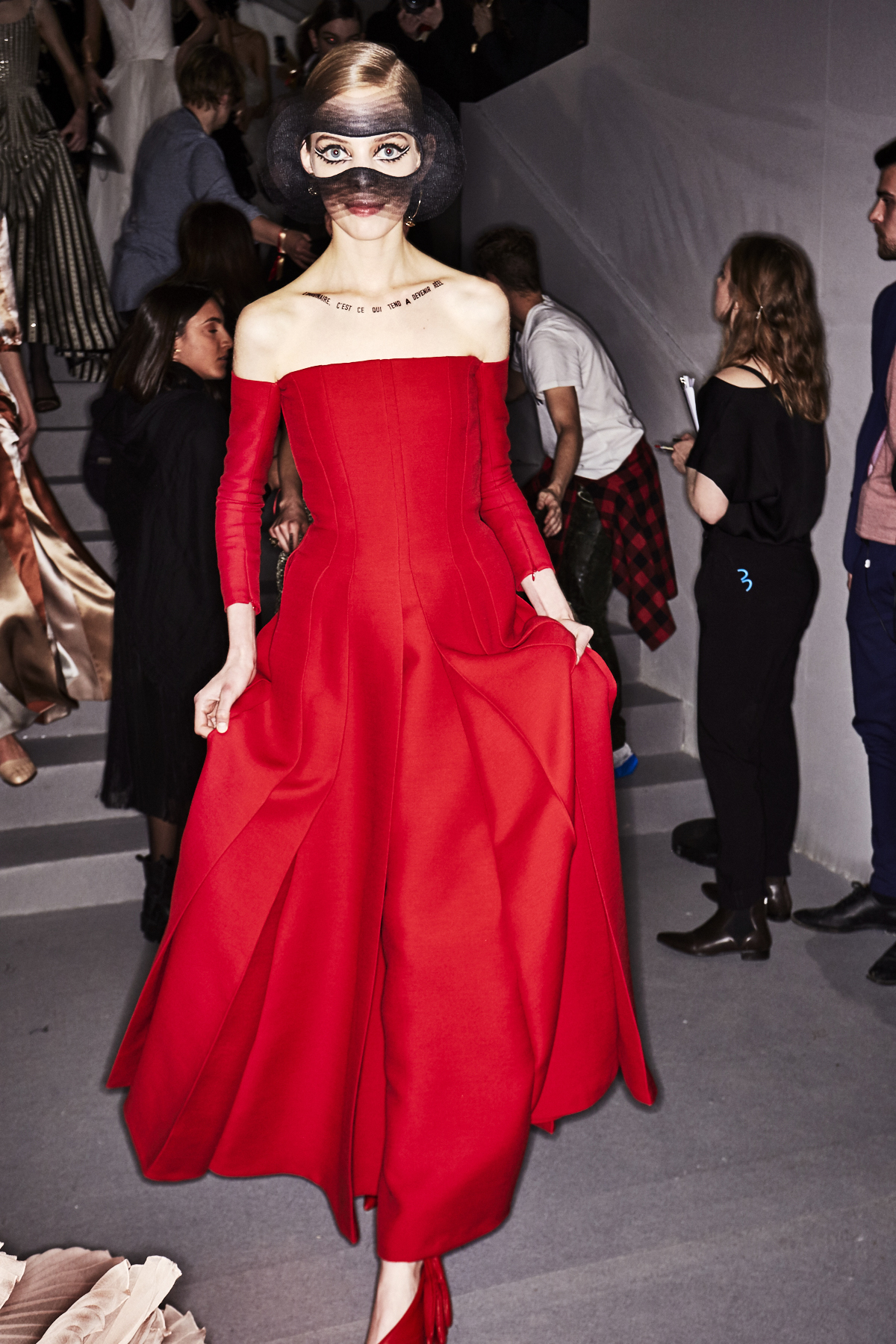 Christian Dior SS18 Haute Couture Collection Fashion Show Paris Backstage