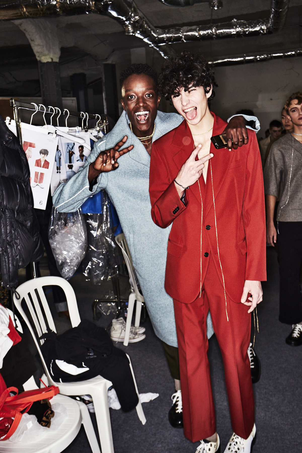 Acne AW1819 Men Fashion Show Paris Backstage