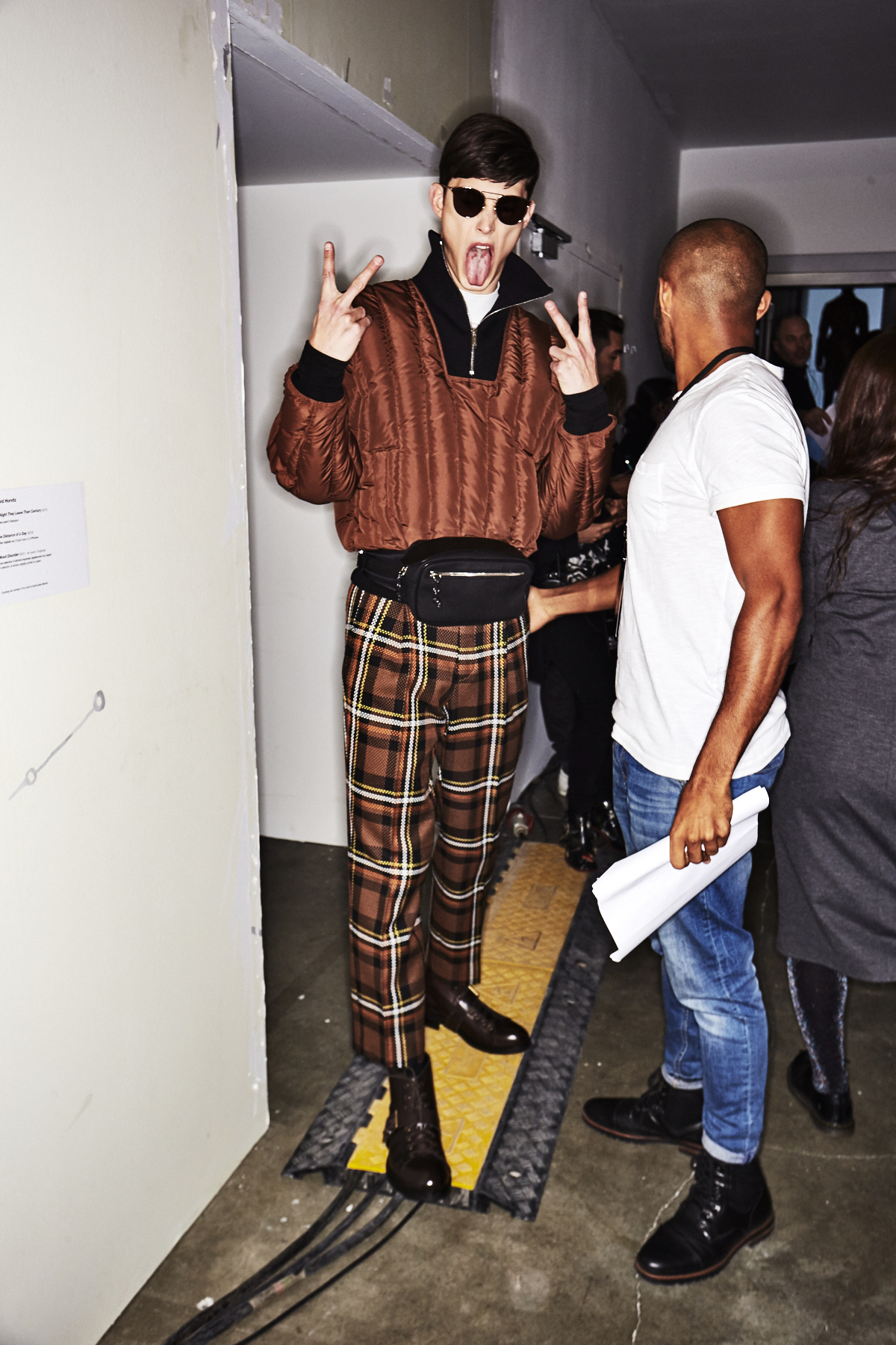 Cerruti AW1819 Men Fashion Show Paris Backstage