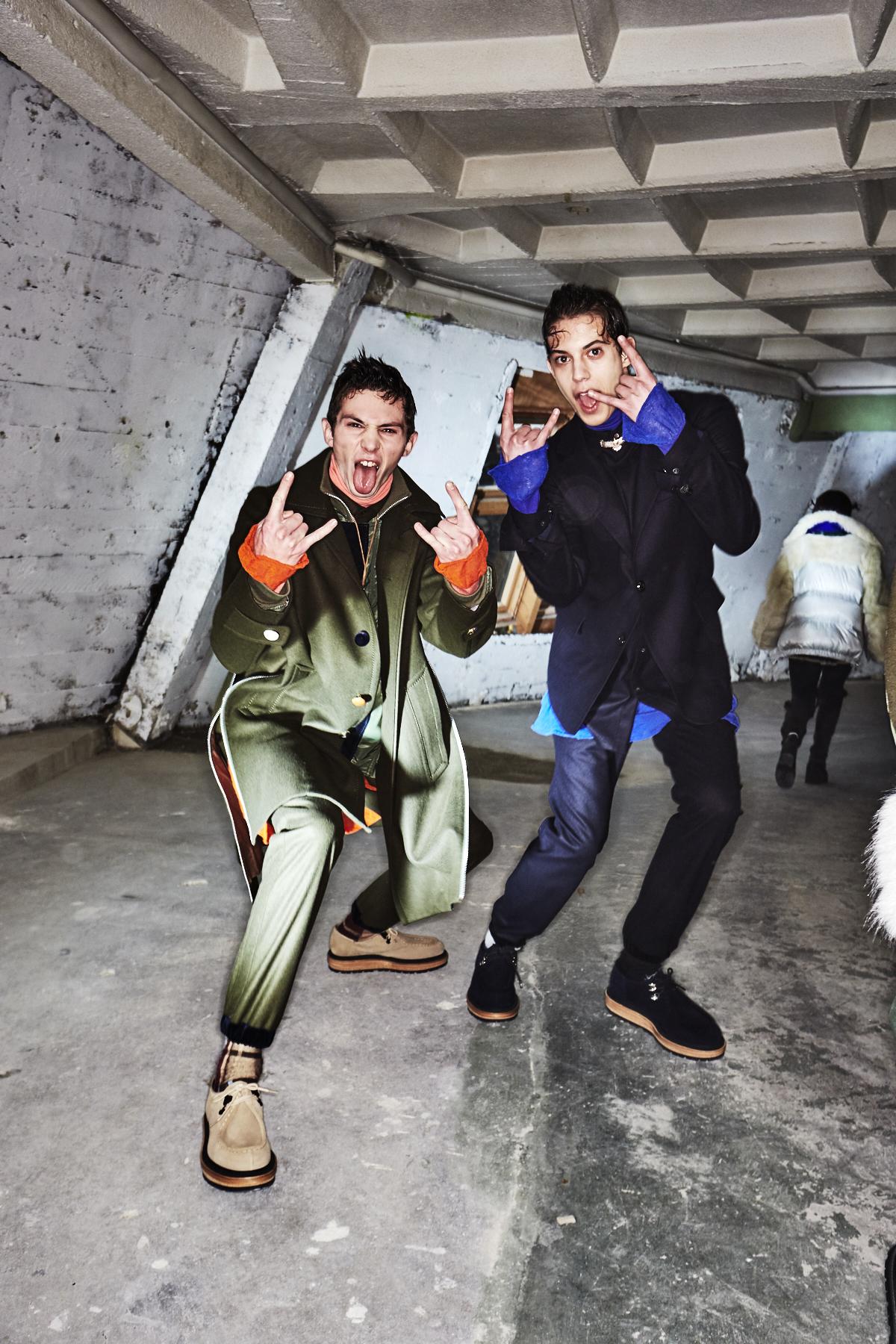 Sacai AW1819 Men Fashion Show Paris Backstage