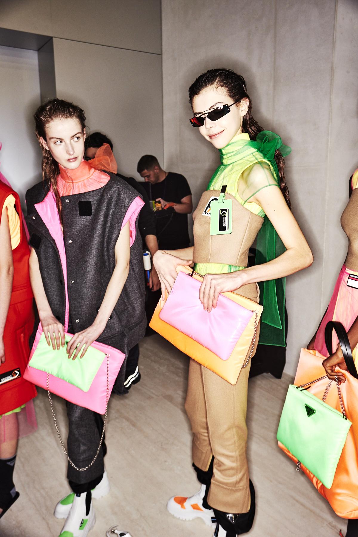 Prada AW18 Fashion show Milan Backstage