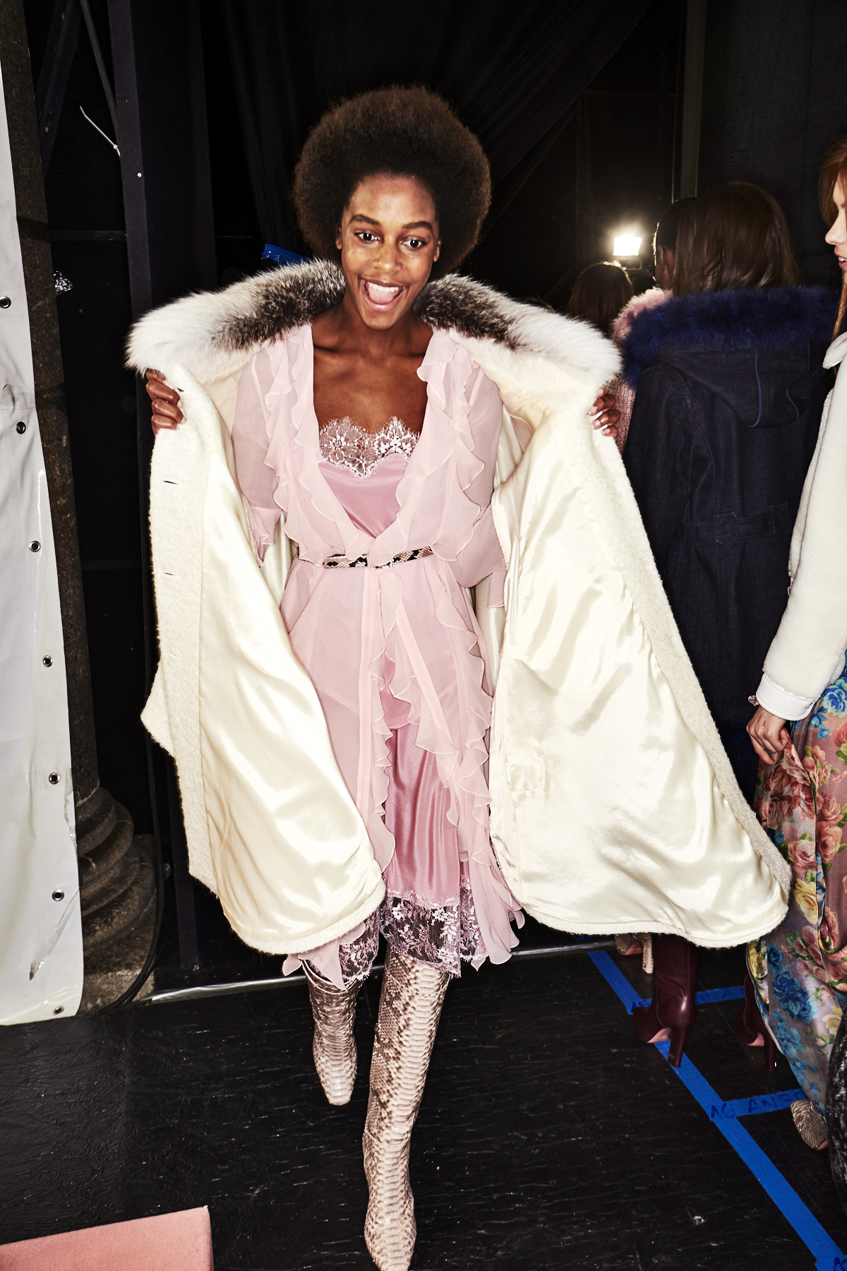 Blumarine AW18 Fashion Show Milan Backstage