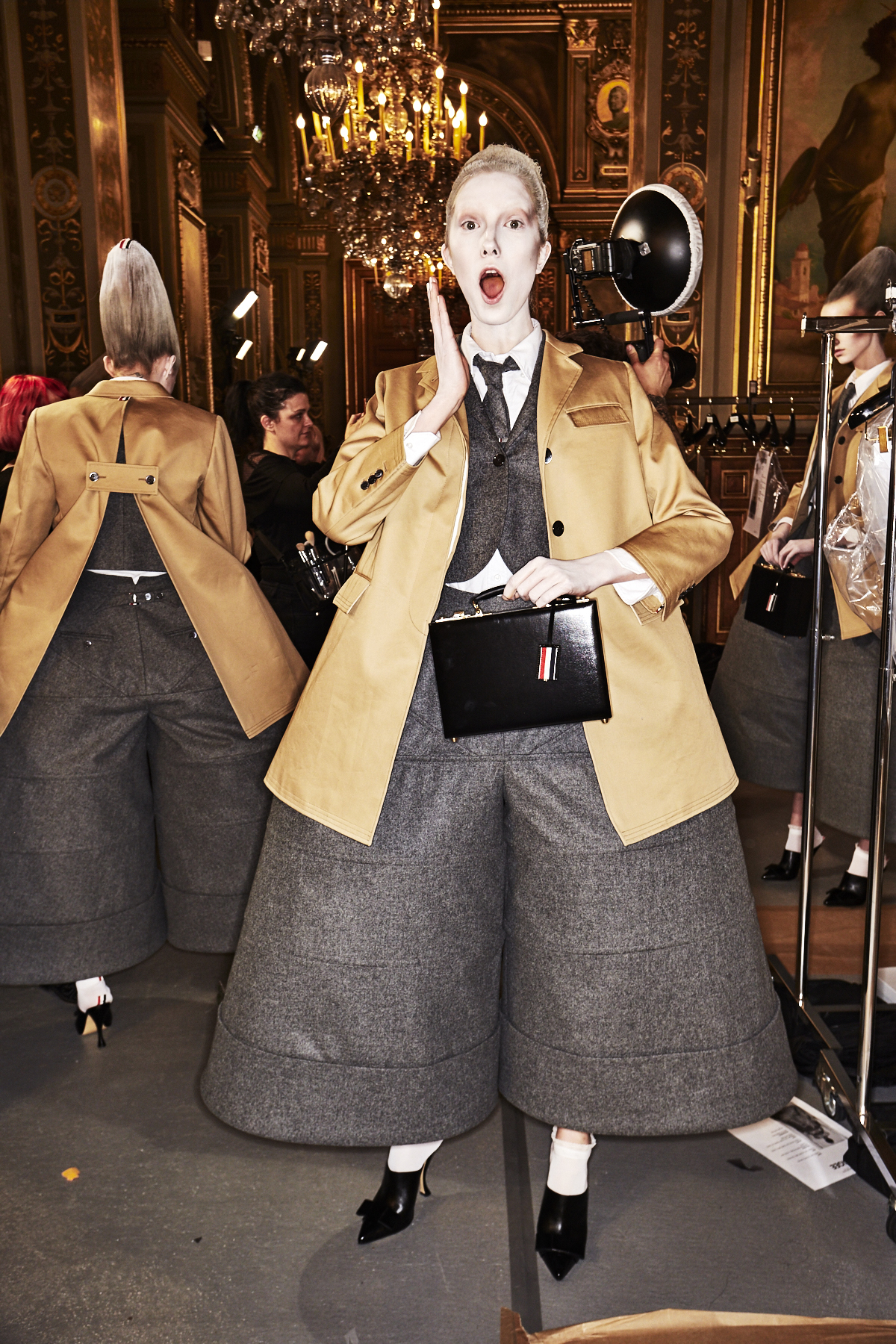 Thom Browne AW18 Fashion Show Paris Backstage